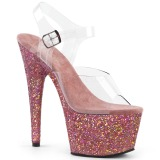 Rose glitter 18 cm Pleaser ADORE-708LG Pole dancing high heels shoes