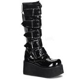 Shiny 8,5 cm TRASHVILLE-518 Platform Mens Gothic Boots
