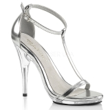 Silver 12,5 cm Fabulicious POISE-526 high heeled sandals