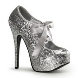 Silver Glitter 14,5 cm TEEZE-10G Platform Pumps Shoes