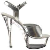 Silver Transparent 15 cm Pleaser KISS-209 High Heels Platform