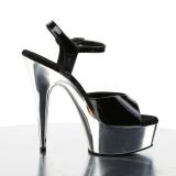 Silver chrome platform 15 cm DELIGHT-609 pleaser high heels shoes