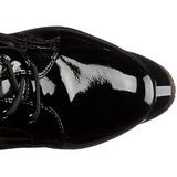 Skinnende 18 cm ADORE-2023 plateau damestøvler med snørebånd