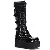Skinnende 8,5 cm TRASHVILLE-518 Plateau Gothic Støvler til Mænd