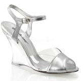 Sølv 10,5 cm LOVELY-442 Wedge Sandaler med Kilehæle