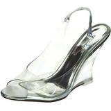 Sølv 10,5 cm LOVELY-450 Wedge Sandaler med Kilehæle