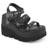 Sølv 11,5 cm CELESTE-09 glitter højhælede sandaler med blokhæl