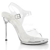 Sølv 11,5 cm CHIC-08 Sandaler med stiletter hæle