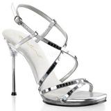 Sølv 11,5 cm CHIC-09 Sandaler med Stiletter Hæle