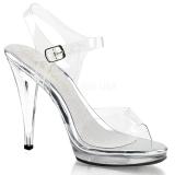 Sølv 11,5 cm FLAIR-408 højhælede sko til mænd