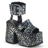 Sølv 12,5 cm Demonia CAMEL-102 lolita sandaler med plateau