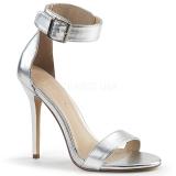Sølv 13 cm AMUSE-10 højhælede sko til mænd