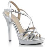 Sølv 13 cm Fabulicious LIP-113 højhælede sandaler til kvinder