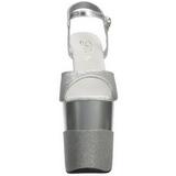 Sølv Glimter 20 cm Pleaser FLAMINGO-809-2G Høje Hæle Plateau