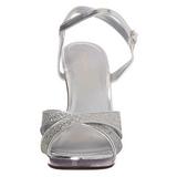 Sølv Glitter 12 cm FLAIR-419G High Heels Sko til Mænd