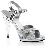 Sølv Glitter 12 cm FLAIR-419G højhælet sko til kvinder
