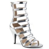 Sølv Kunstlæder 10 cm DREAM-438 store størrelser ankelstøvler dame