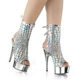 Sølv Lakeret 15 cm DELIGHT-1018HG ankelstøvler damer med plateausål