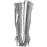 Sølv Mat 13 cm SEDUCE-3000 overknee støvler med hæl til Mænd