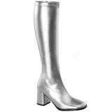 Sølv Mat 8,5 cm GOGO-300 Høje Damestøvler til Mænd