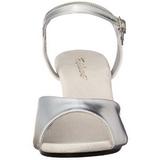 Sølv Mat 8 cm BELLE-309 Høje damesandaler med hæl