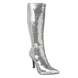 Sølv Pailletter 9,5 cm FUNTASMA LUST-2001SQ Dame Støvler