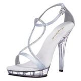 Sølv Satin 13 cm LIP-156 højhælet sko til kvinder