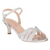 Sølv Strass 6,5 cm AUDREY-03 højhælede sandaler til kvinder