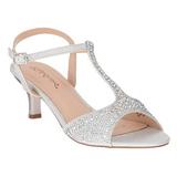 Sølv Strass 6,5 cm AUDREY-05 højhælede sandaler til kvinder