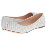 Sølv TREAT-06 krystal sten ballerina sko med flade hæle