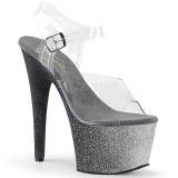 Sølv glimmer 18 cm Pleaser ADORE-708OMBRE poledance sko