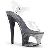Sølv glimmer 18 cm Pleaser MOON-708OMBRE poledance sko