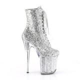 Sølv glimmer 20 cm Pleaser FLAMINGO-1020G poledance ankelstøvler