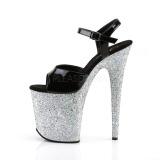 Sølv glimmer 20 cm Pleaser FLAMINGO-809LG poledance sko