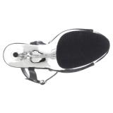 Sølv krom plateau 15 cm DELIGHT-609 pleaser høje hæle