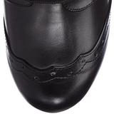 Sort 10,5 cm TESLA-102 ankelstøvler damer med snørebånd