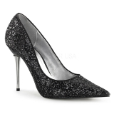 Sort 10 cm APPEAL-20G stiletter pumps med metal hæl