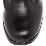 Sort 10 cm CRYPTO-106 plateau damestøvler med spænder