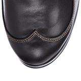 Sort 10 cm CRYPTO-302 plateau damestøvler med spænder