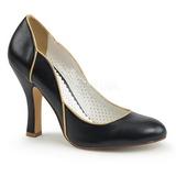 Sort 10 cm SMITTEN-04 Pinup pumps sko med lave hæle