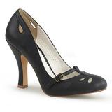 Sort 10 cm SMITTEN-20 Pinup pumps sko med lave hæle