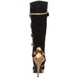 Sort 11,5 cm ARENA-2012 barock støvler til damer med høj hæl