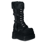 Sort 11,5 cm BEAR-202 lolita støvler gothic plateau tykke såler