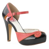 Sort 11,5 cm BETTIE-17 Pinup pumps sko med skjult plateau