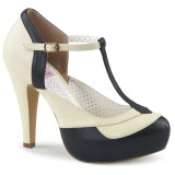 Sort 11,5 cm BETTIE-29 Pinup pumps sko med skjult plateau
