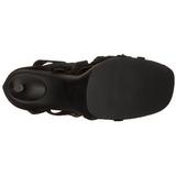 Sort 11,5 cm CHIC-26 Sandaler med Stiletter Hæle