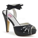 Sort 11,5 cm Pinup BETTIE-01 højhælede sandaler til kvinder