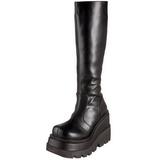 Sort 11,5 cm SHAKER-100 lolita støvler gothic plateau tykke såler