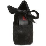 Sort 13 cm DEMON-11 lolita sko gothic dame plateausko med tykke såler