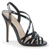Sort 13 cm Pleaser AMUSE-13 højhælede sandaler til kvinder